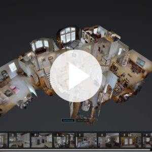 Example picture of a dollhouse view for a 3D Matterport Tour