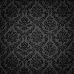 Black Damask Resized Grayscale