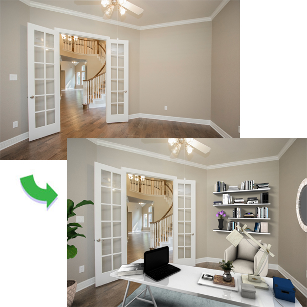 Virtual Staging - Rockbait Photo Tours